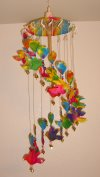 WC-120 Saa Paper Wind-Chime Hearts and Birds style
