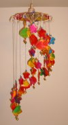 WC-007 Umbrella Mobile Wind-Chimes The Fish and Flowers Style