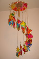 WC-010 Umbrella Mobile Wind-Chimes Flowers and Pony Style