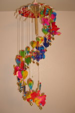 WC-011 Umbrella Mobile Wind-Chimes The Hearts and Mixed Animals style