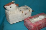T-rat-18 Stuffed Rat Head White-brown Tissue Box Cover